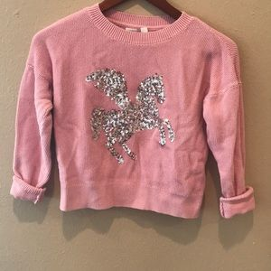 Gap Sequined Unicorn Thermal Top Size XL 💖